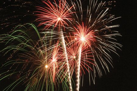 panoply: Exploding fireworks Stock Photo