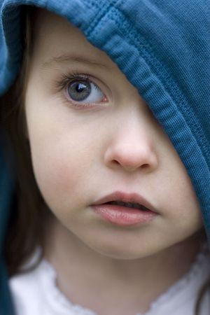 Preschooler with an innocent face.