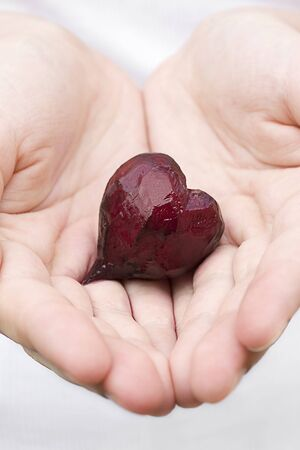 Love offering represented by beet heart