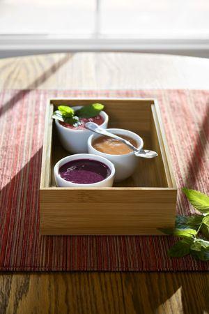 Fruit soup in the sun