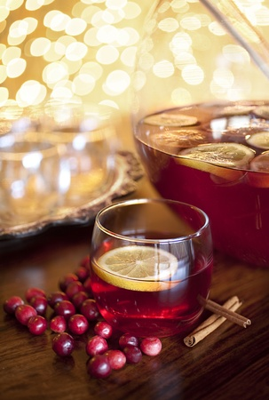 cranberry juice: Holiday Punch