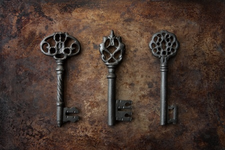 llaves: Llaves de esqueleto Foto de archivo
