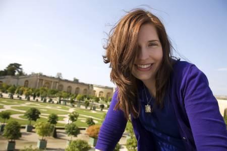 Woman Vacationing At Versailles