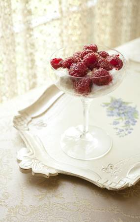 antique dishes: Raspberry Brulee