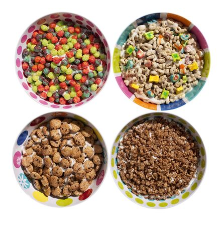 Sugary Cereals Stock Photo