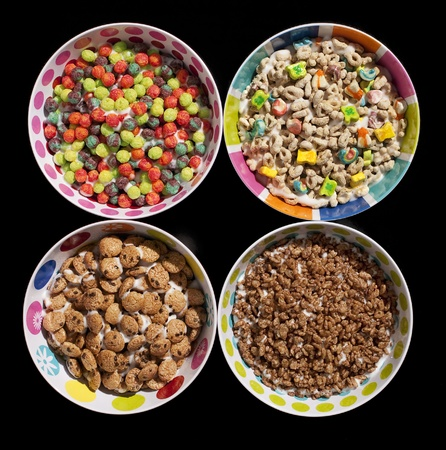sugary: Sugary Cereals Stock Photo