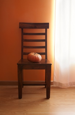 Pumpkin on Chair