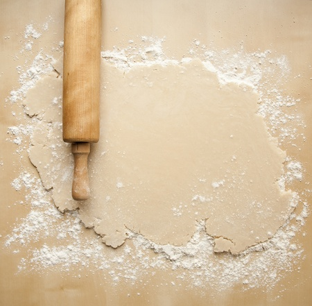 the dough: Sali� de corteza de pastel Foto de archivo