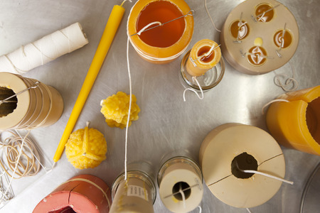votive candle: Making beeswax candles