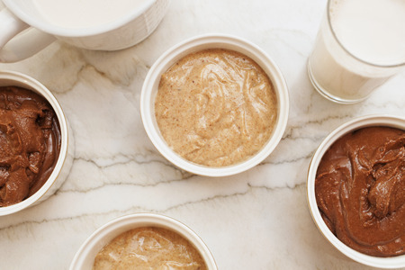 homemade almond butter and milk