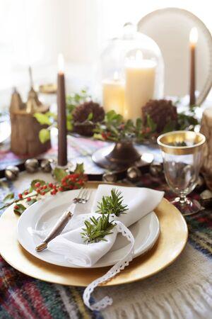 christmas table: Christmas Table Setting