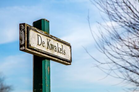 street name sign: On of the Netherlandss Street name Sign