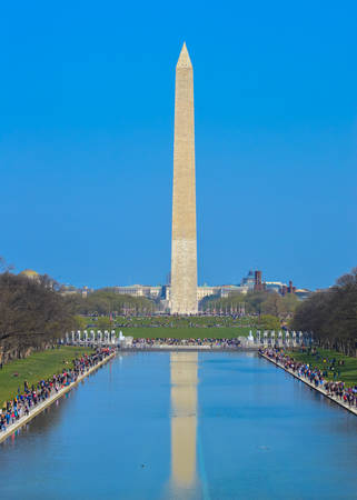 washington monument: Washington Monument in the Reflecting Pool Editorial