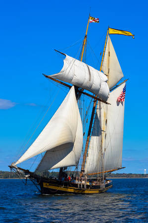 schooner: The Schooner Pride of Baltimore on the Chesapeake Bay Editorial