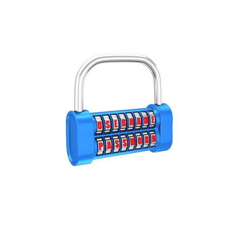 username: The padlock � username, password. 3d illustration on a white background. Render. Stock Photo
