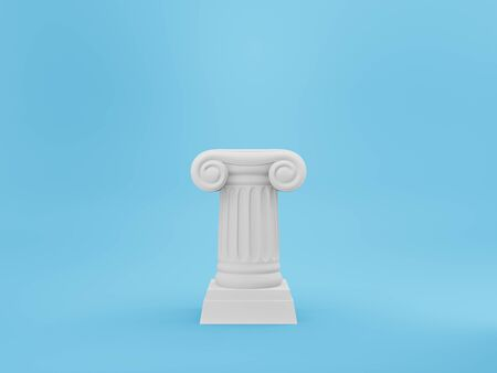 Abstract podium column on the background. The victory pedestal is a minimalist concept. 3D rendering.
