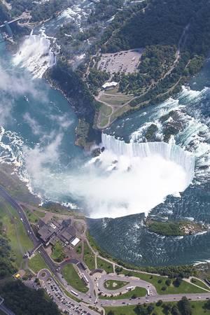 aerial view of niagara falls Stock Photo
