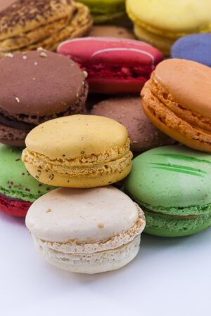 close up shot of various kind of fresh macaroons arrangement Stock Photo - 16974924