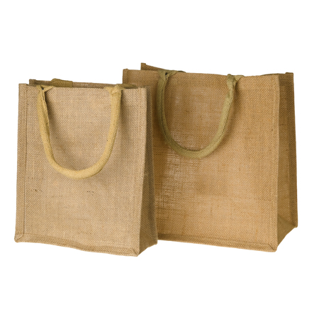 Jute Tote Bag isolated on white background
