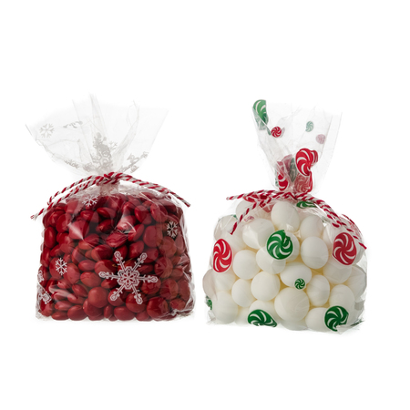 christmas candy bags isolated on white background stock photo 80168312 - Christmas Candy Bags