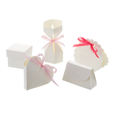 BONBON BOXes isolated  on white background Stock Photo