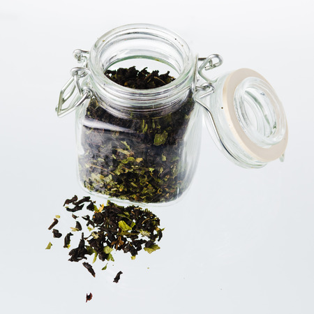 Tea Jar over white background