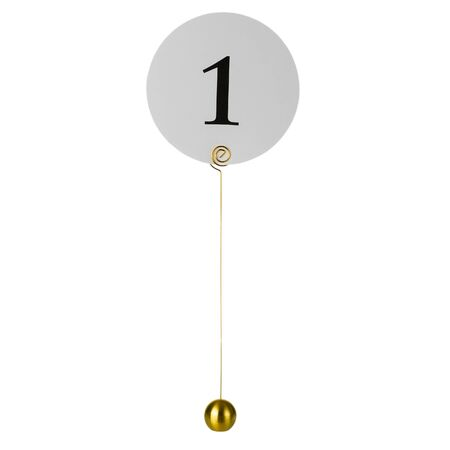 Table number holder on white background
