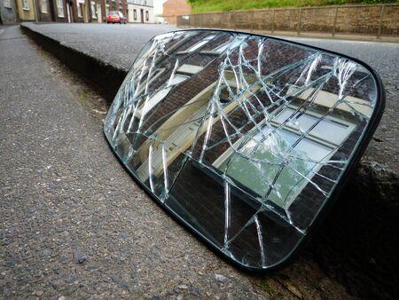 broken rear view mirror terrace houses