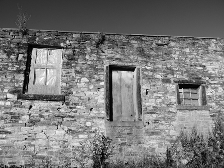wasatch: abandoned farm building left outside