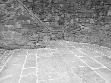 brick courtyard stone cement