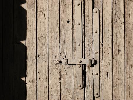 sone: wooden door muddy closed barge waterway