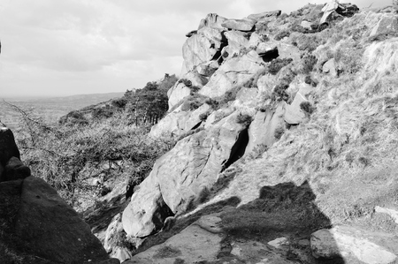 moorland: rocky moorland in staffordshire roaches