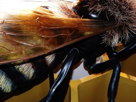 honey comb: plastic bumblebee honey comb Stock Photo