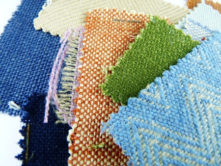 a selection of fabric swatches