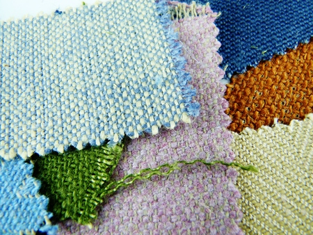 different colors of fabric swatches