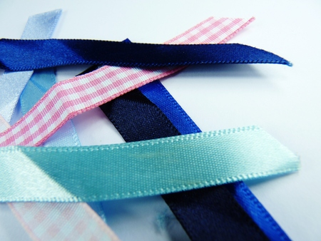 blue and pink ribbon strips fabric Banco de Imagens
