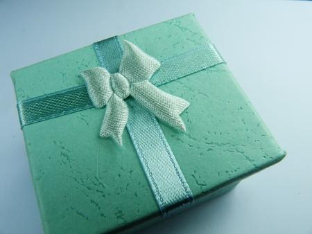 small aqua blue gift box Banco de Imagens