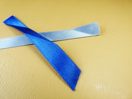 blue overlapping ribbon strips Banco de Imagens