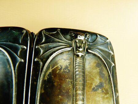 antique sterling silver german gothic cigarette case