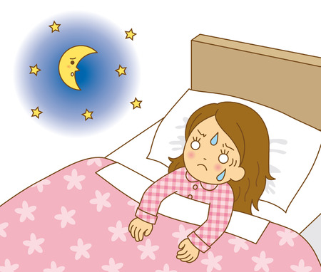 insomnia: Women insomnia Stock Photo