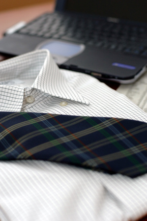 salaried: Shirt and tie and PC