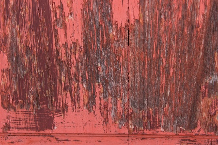 close-up red wood  peeling paint Stock Photo - 16914351