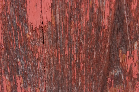 close-up red wood  peeling paint Stock Photo - 16914343