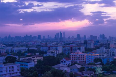 City of Bangkok at Sunset shot view terraced house Stock Photo - 16953760
