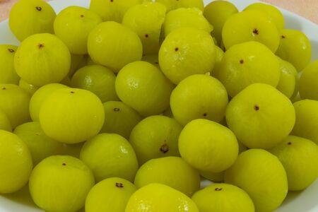 gooseberries: Gooseberries Fruits fermentation Stock Photo