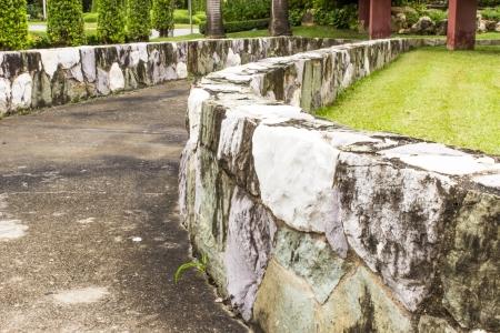 retaining: Retaining wall  in garden  Stock Photo