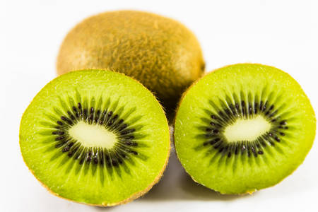 kiwi Fruit isolated on the white background
