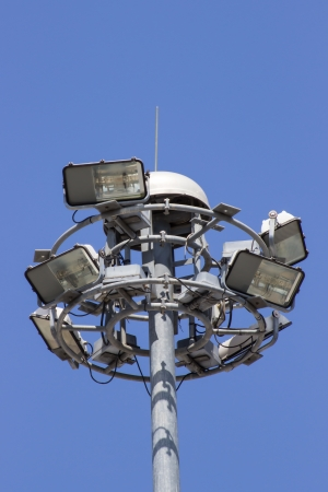 halogen lighting: Streetlight  and blue sky