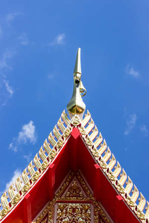 gable: Gable apex;Chorfah in Thai and blue sky