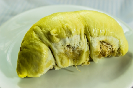 Durian isolated on white background  photo